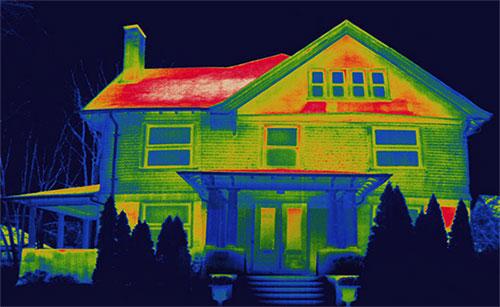 снимок дома с неутепленной кровлей
