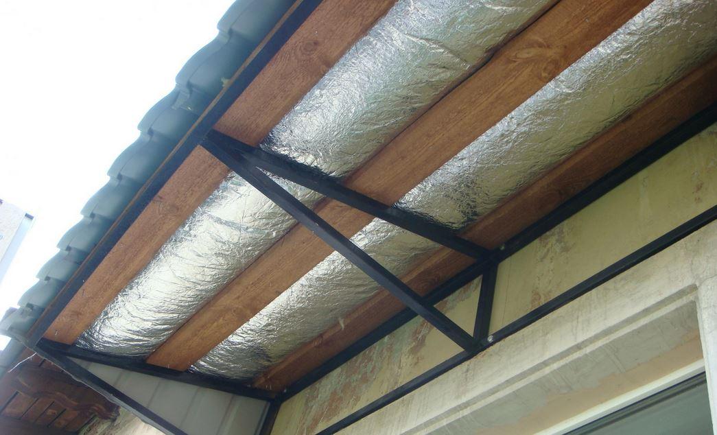 утепление крыши балкона
