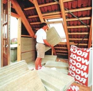 Минеральная вата отлично подойдет для внутреннего утепления дома