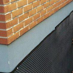 Защита утеплителя жесткой профилированной мембраной