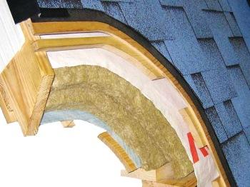 Гибкая теплоизоляция идеально подойдет для скатной крыши