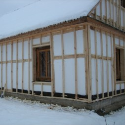Утепление фасада панельно-щитового дома