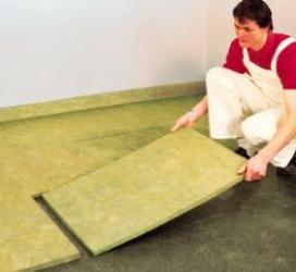 Монтаж базальтового утеплителя на пол