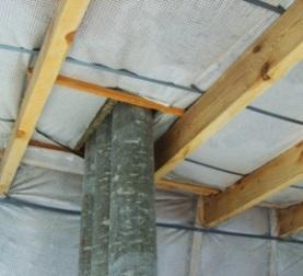 Монтаж влагозащитного барьера для минераловатной теплоизоляции