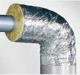 Утепление труб фольгированными прошивными матами