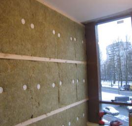 Утепление стен лоджии минераловатными панелями