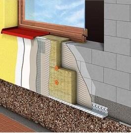 Устройство теплоизоляции фасада минераловатным утеплителем