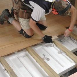 Монтаж пенополистирола для утепления пола деревянного дома