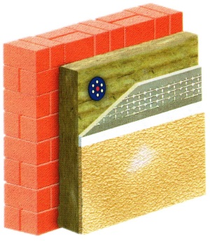 Схема теплоизоляции мокрого штукатурного фасада
