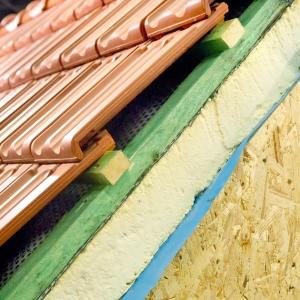 Утепление скатной крыши дома в разрезе
